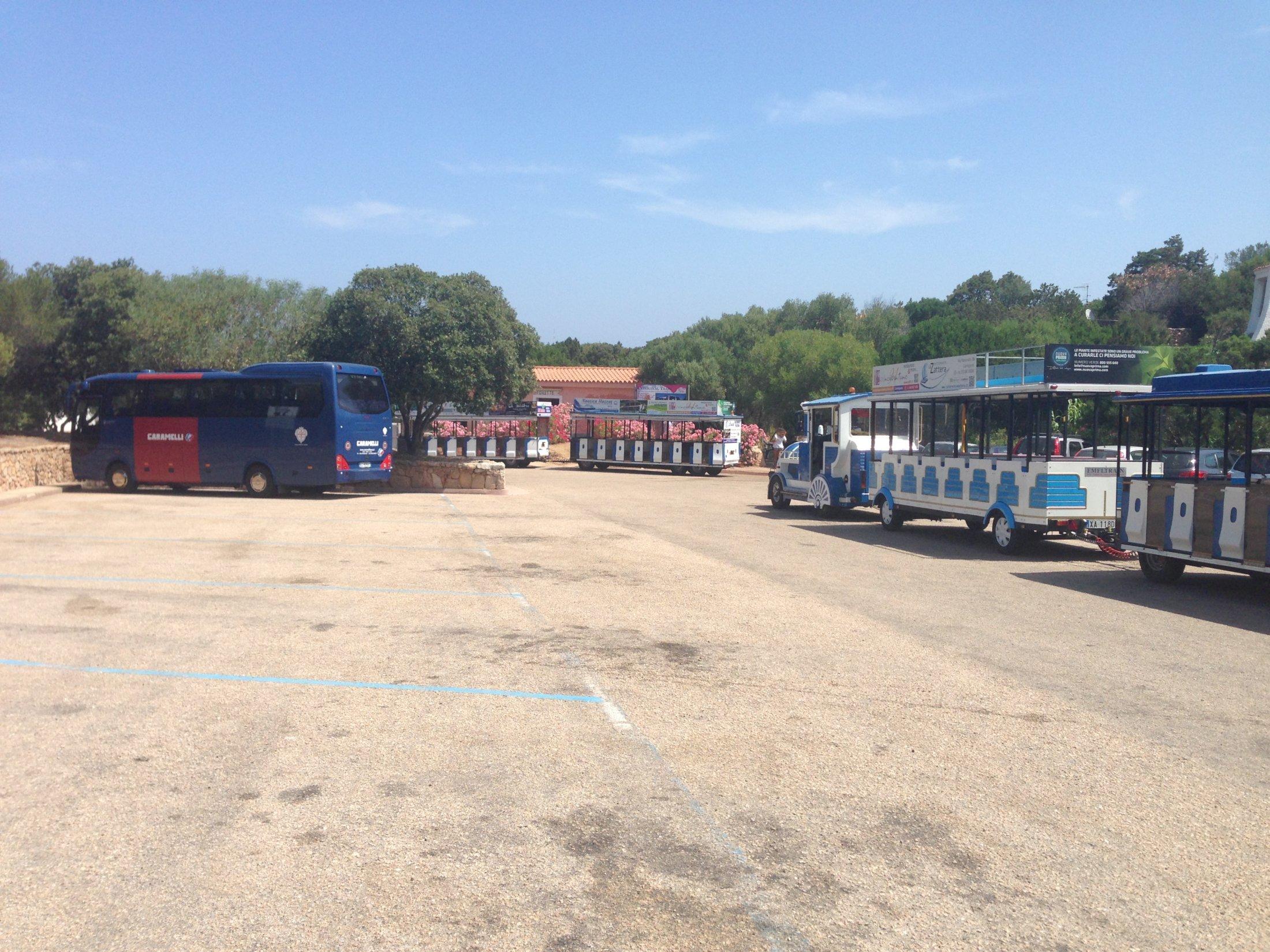 Parking autobus Porto cervo