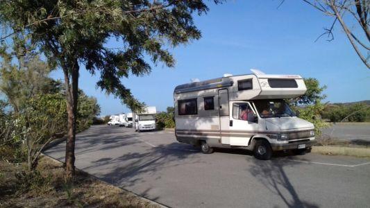 parking saline camper